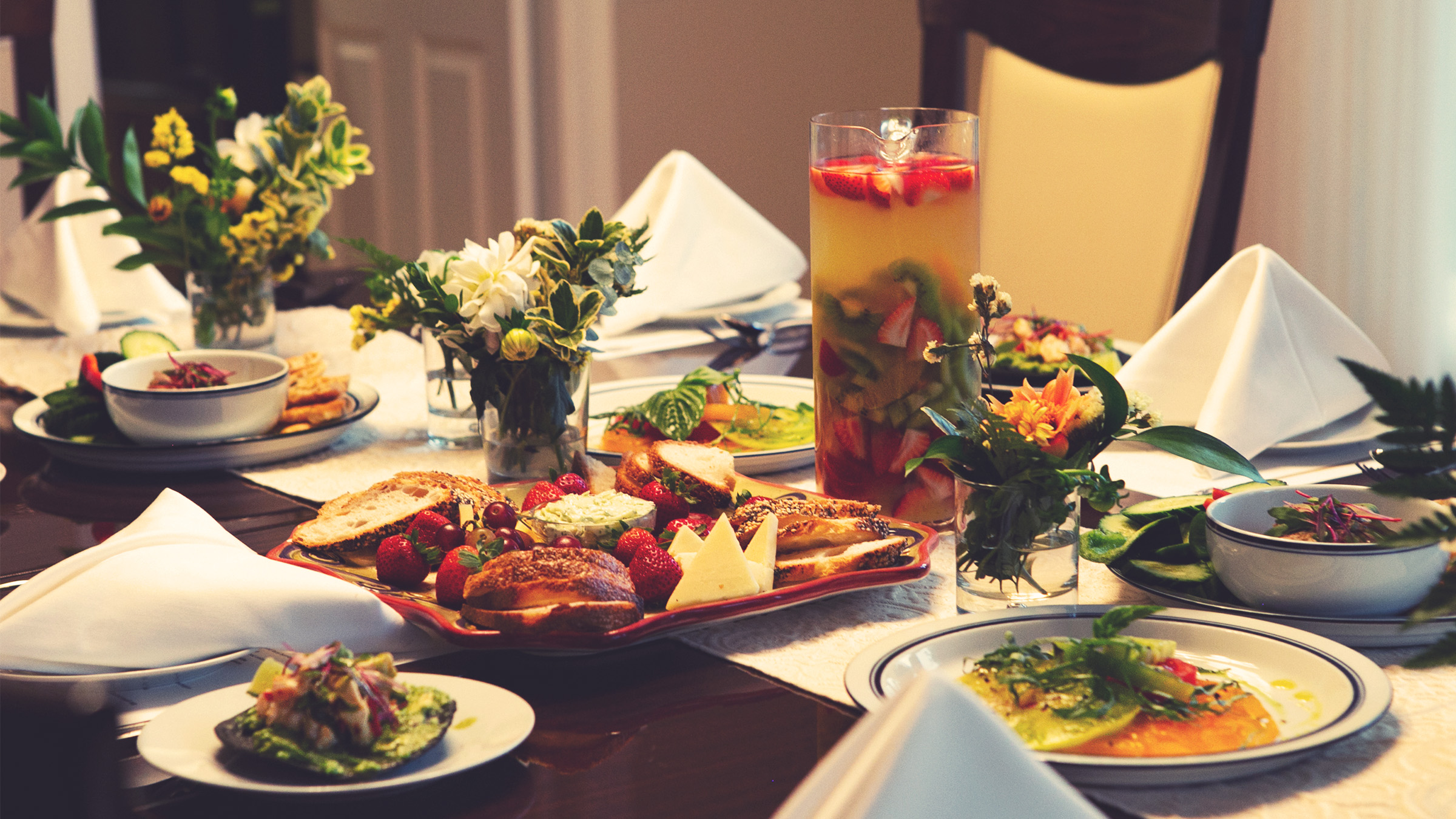 Photo of food on table