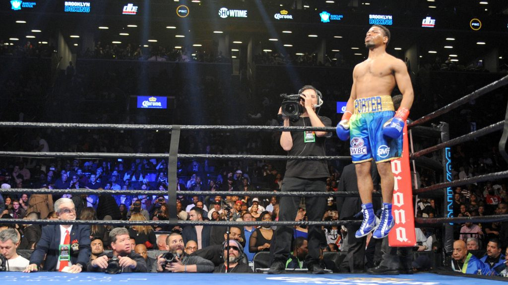 'Showtime' Shawn Porter gets in some bounce time before his 147 LBS. title eliminator with Andre Berto at The Barclays Center in Brooklyn, NY.
