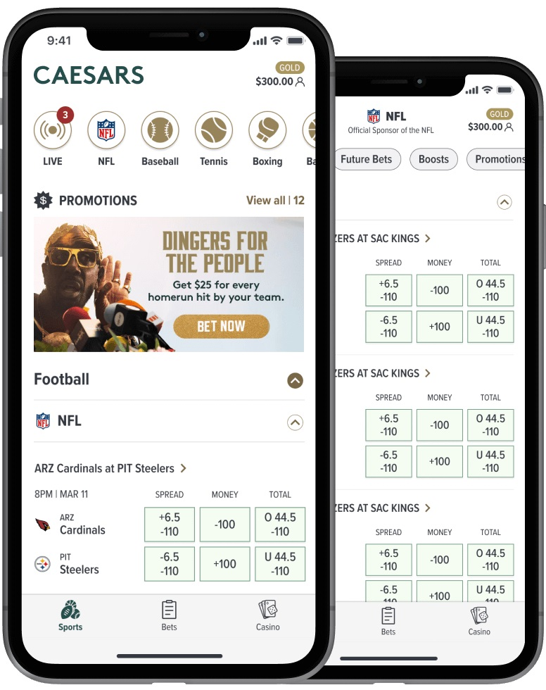 Caesars Sportsbook App   Source: Caesars Entertainment